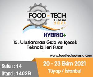 15. uluslararası Gıda ve İçecek Teknoloji Fuarındayız
